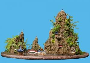 酒泉假山盆景